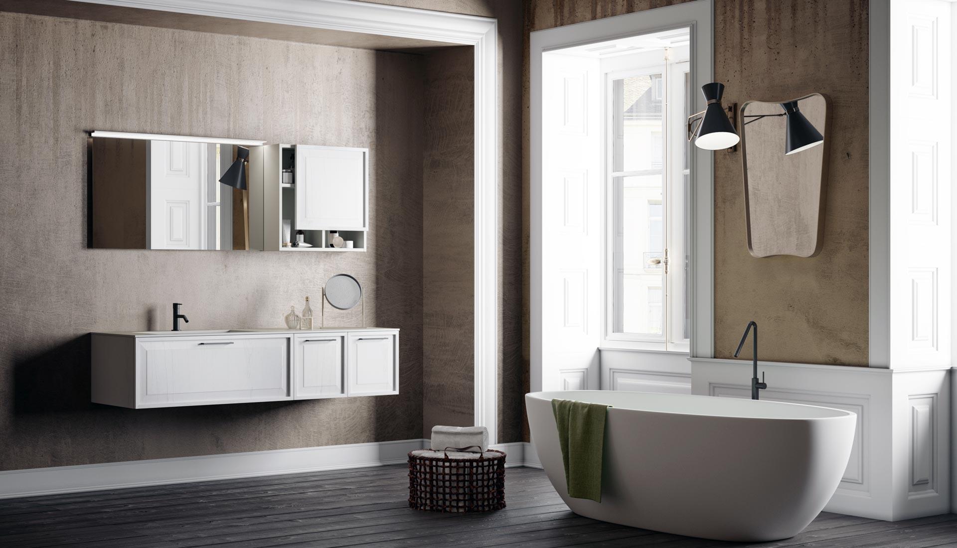 roma - Arredo bagno classico in chiave moderna